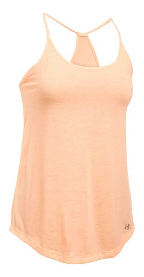 Womens Under Armour Threadborne Train Strap Sleeveless & Tank Tops Technical Tops - Playful Peach L