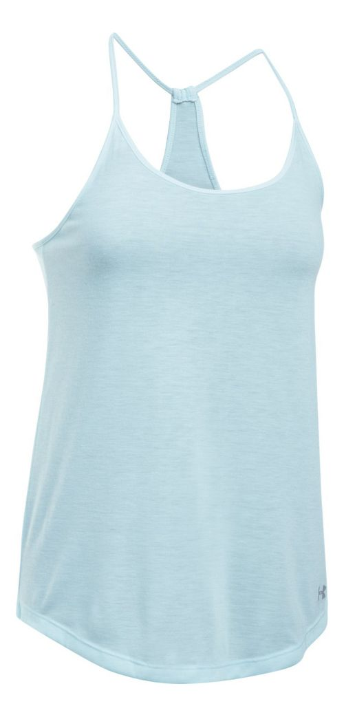 Womens Under Armour Threadborne Train Strap Sleeveless & Tank Tops Technical Tops - Skylight M