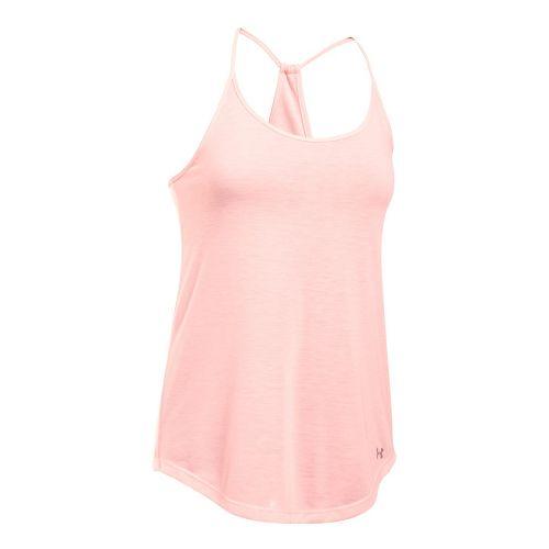 Womens Under Armour Threadborne Train Strap Sleeveless & Tank Tops Technical Tops - Ballet Pink ...