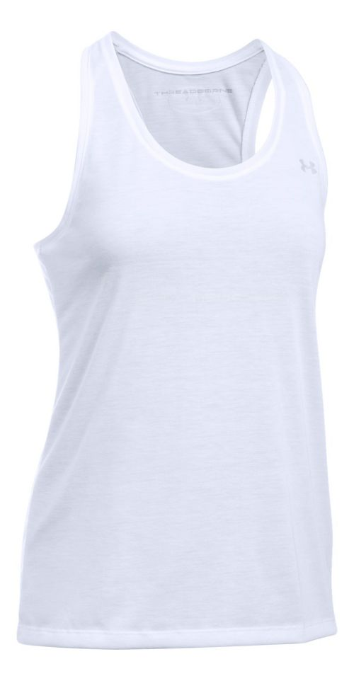Womens Under Armour Threadborne Train Sleeveless & Tank Tops Technical Tops - White S