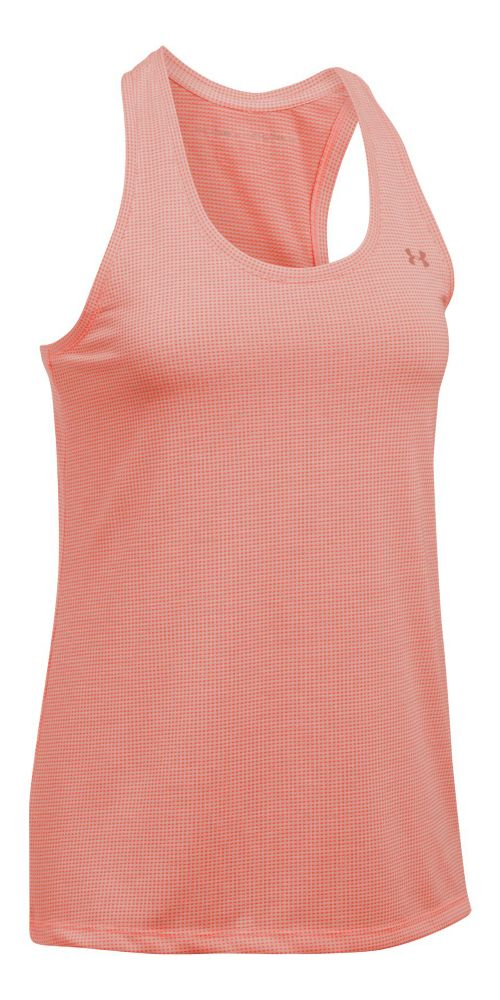 Threadborne Train Tank Grid Sleeveless & Tank Tops Technical Tops - Orange/White L