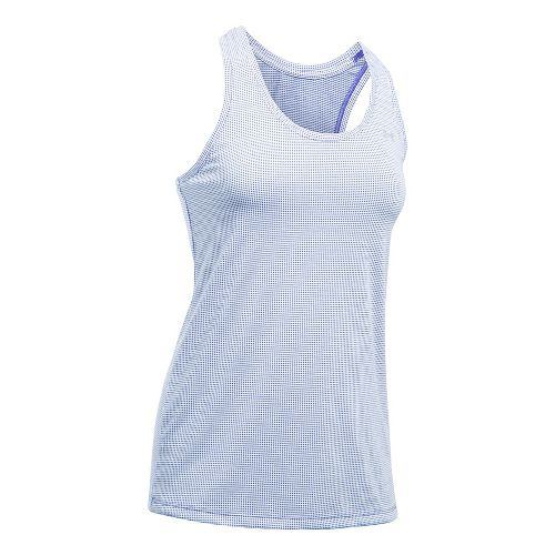 Threadborne Train Tank Grid Sleeveless & Tank Tops Technical Tops - Purple/White XS