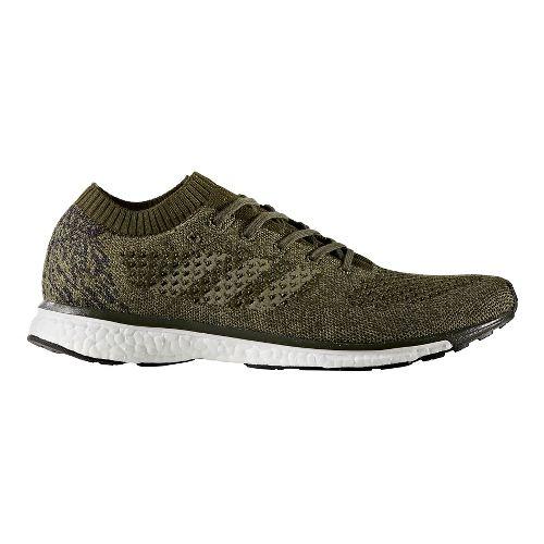Mens adidas adizero Primeknit LTD Running Shoe - Olive/Black 11