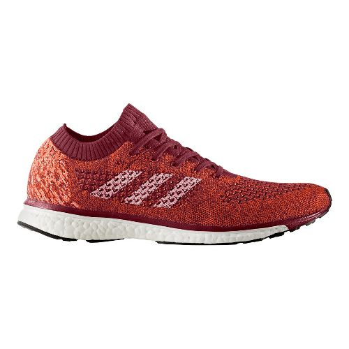 Mens adidas adizero Primeknit LTD Running Shoe - Burgundy/White 10.5