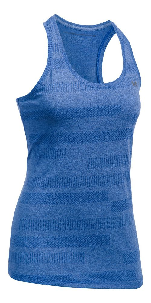 Womens Under Armour Threadborne Train Jacquard Sleeveless & Tank Tops Technical Tops - Royal XL