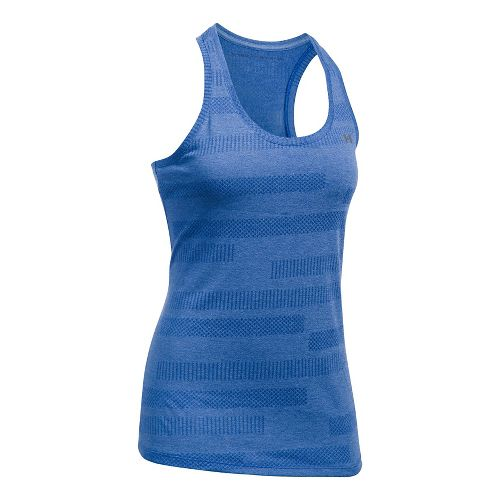 Womens Under Armour Threadborne Train Jacquard Sleeveless & Tank Tops Technical Tops - Royal XS ...