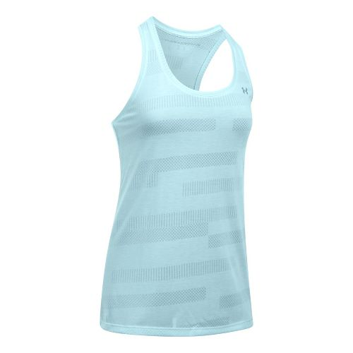 Womens Under Armour Threadborne Train Jacquard Sleeveless & Tank Tops Technical Tops - Skylight ...