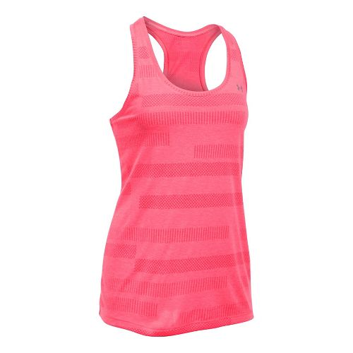 Womens Under Armour Threadborne Train Jacquard Sleeveless & Tank Tops Technical Tops - Pink ...