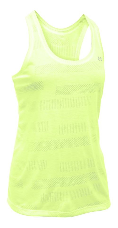 Womens Under Armour Threadborne Train Jacquard Sleeveless & Tank Tops Technical Tops - Pale ...