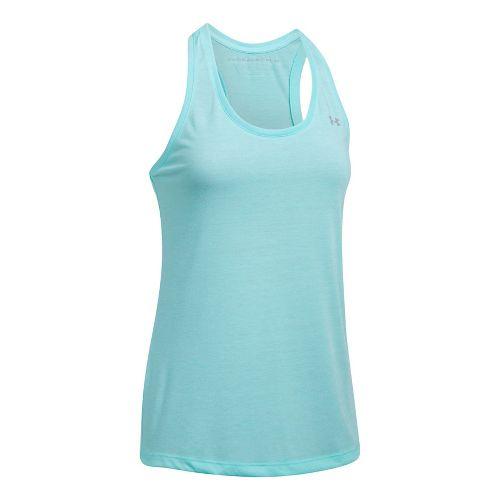 Womens Under Armour Threadborne Train Twist Sleeveless & Tank Tops Technical Tops - Blue Infinity M