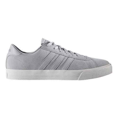 Mens adidas Cloudfoam Super Daily Casual Shoe - White Leather 8.5
