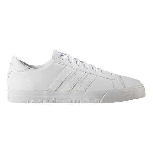 Mens adidas Cloudfoam Super Daily Casual Shoe - White Leather 9