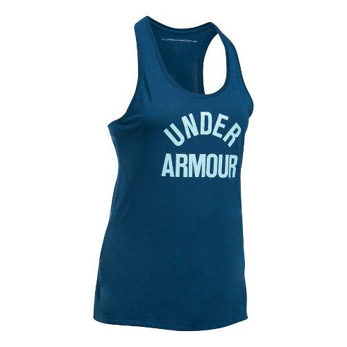 Womens Under Armour Threadborne Train Wordmark Sleeveless & Tank Tops Technical Tops - ...
