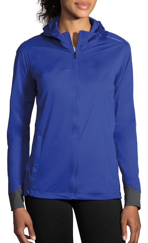 Womens Brooks Hideout Running Jackets - Cobalt L