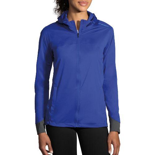 Womens Brooks Hideout Running Jackets - Cobalt M
