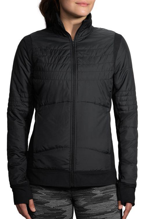 Womens Brooks Cascadia Thermal Running Jackets - Black S