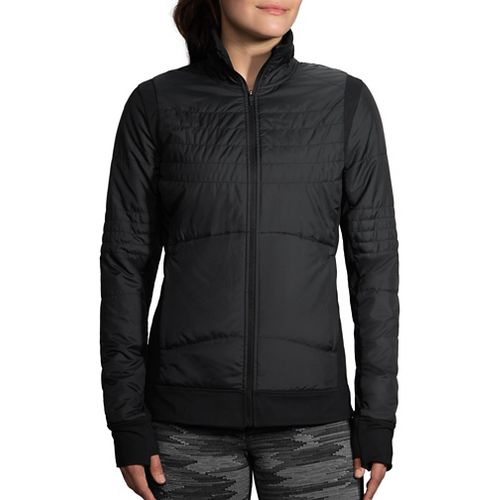 Womens Brooks Cascadia Thermal Running Jackets - Black L