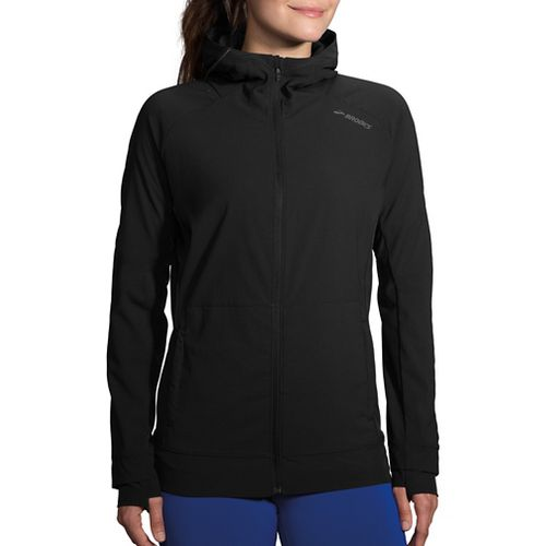 Womens Brooks Canopy Jacket Running Jackets - Black S