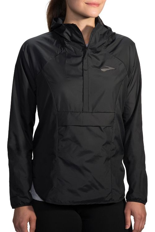 Womens Brooks Cascadia Shell Running Jackets - Black S