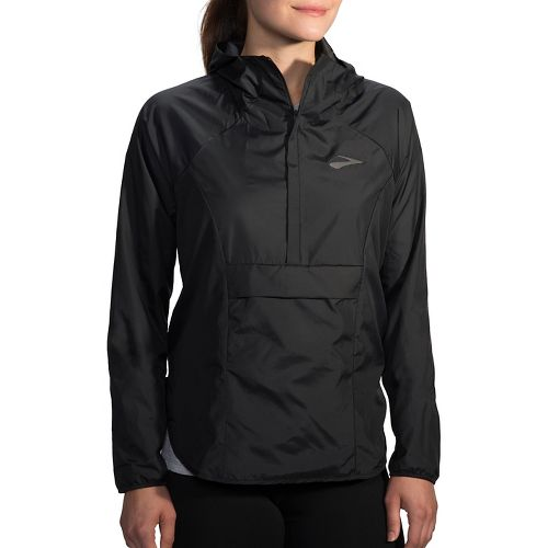 Womens Brooks Cascadia Shell Running Jackets - Black L