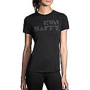 Womens Brooks Run Happy Tee Short Sleeve Technical Tops