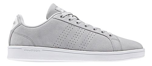 Mens adidas CloudFoam Advantage Clean Casual Shoe - Grey Suede 10