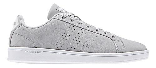 Mens adidas CloudFoam Advantage Clean Casual Shoe - Grey Suede 12.5