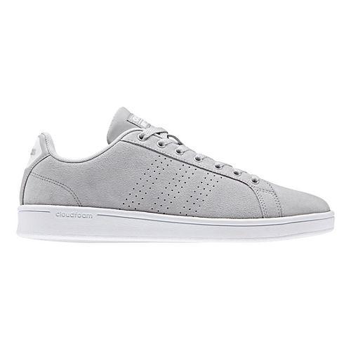 Mens adidas CloudFoam Advantage Clean Casual Shoe - Grey Suede 10