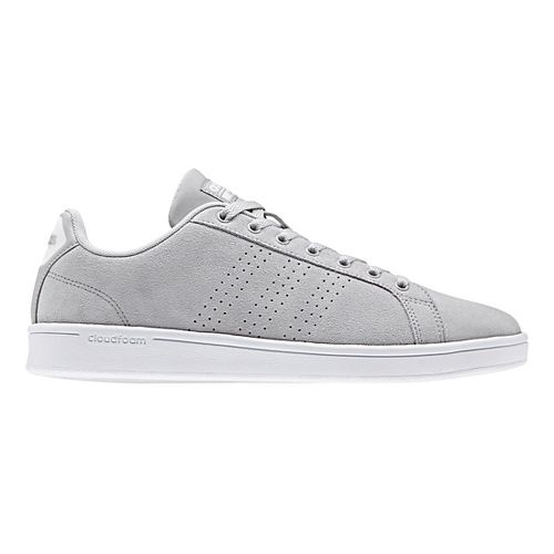 Mens adidas CloudFoam Advantage Clean Casual Shoe - Grey Suede 13