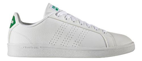 Mens adidas CloudFoam Advantage Clean Casual Shoe - White/Green 11.5
