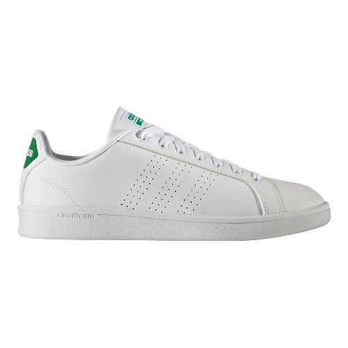 Mens adidas CloudFoam Advantage Clean Casual Shoe - White/Green 12.5