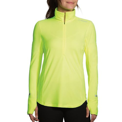Womens Brooks Dash Printed Half-Zips & Hoodies Technical Tops - Nightlife/Ultra Blue XXL