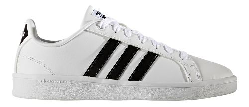 Womens adidas CloudFoam Advantage Stripe Casual Shoe - White/Black 11