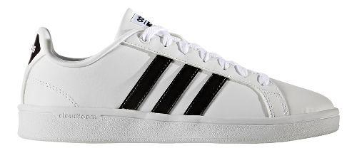Womens adidas CloudFoam Advantage Stripe Casual Shoe - White/Black 8
