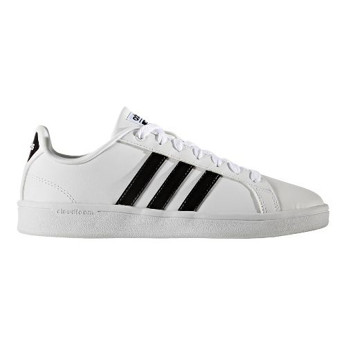 Womens adidas CloudFoam Advantage Stripe Casual Shoe - White/Black 6