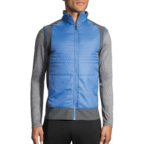 Mens Brooks Cascadia Thermal Vest Jackets - Bay/Asphalt M