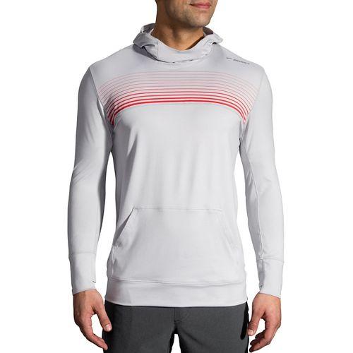 Mens Brooks Dash Half-Zips & Hoodies Technical Tops - SterlingBlaze Stripe L