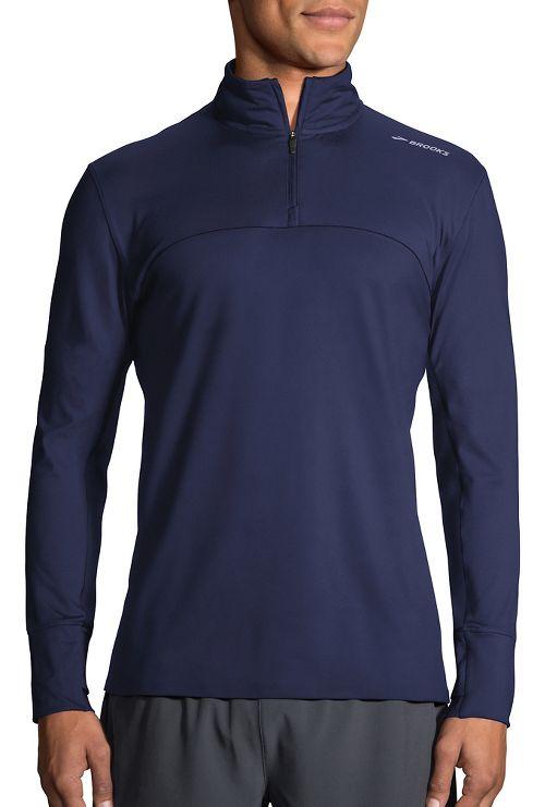 Mens Brooks Dash Half-Zips & Hoodies Technical Tops - Navy XL