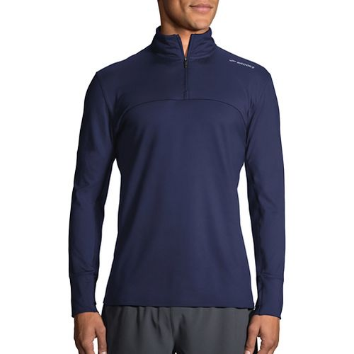 Mens Brooks Dash Half-Zips & Hoodies Technical Tops - Navy XL
