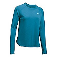 Womens Under Armour Tri-Blend Long Sleeve Technical Tops