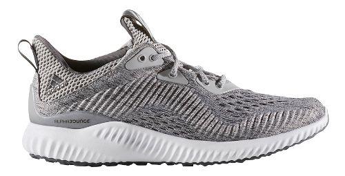 Womens adidas AlphaBounce EM Running Shoe - Grey/White 6
