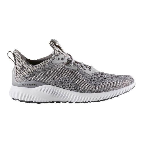 Womens adidas AlphaBounce EM Running Shoe - Grey/White 10.5