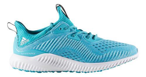 Womens adidas AlphaBounce EM Running Shoe - Energy Blue/Aqua 7.5