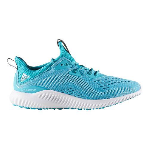 Womens adidas AlphaBounce EM Running Shoe - Energy Blue/Aqua 7