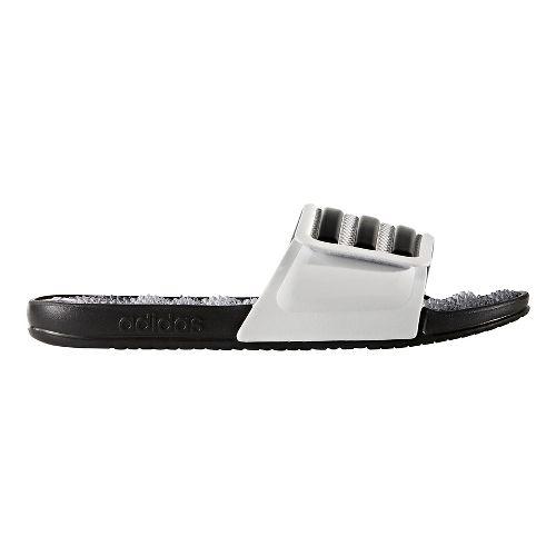 Mens adidas Adissage 2.0 Stripes Sandals Shoe - White/Black 6