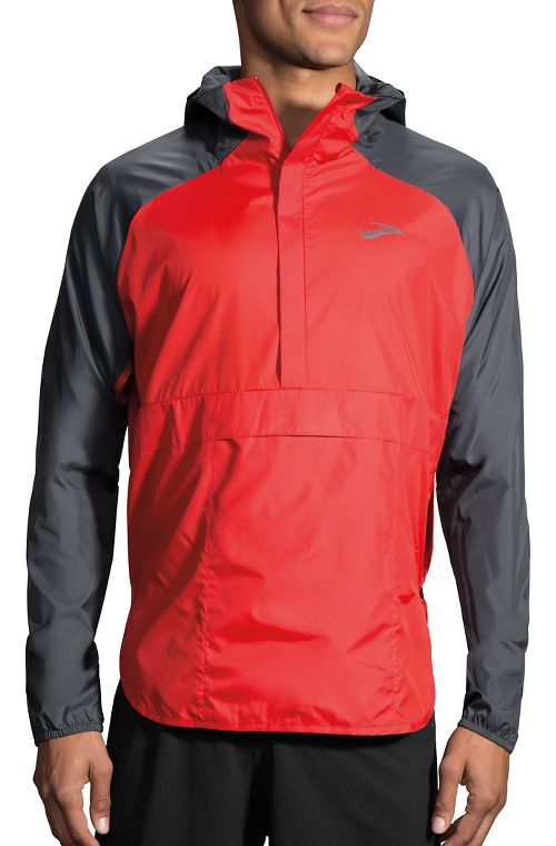 Mens Brooks Cascadia Shell Running Jackets - Robin/Asphalt L
