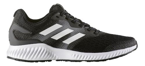 Mens adidas AeroBounce Running Shoe - Black/White 12