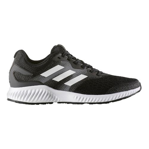 Mens adidas AeroBounce Running Shoe - Black/White 11.5