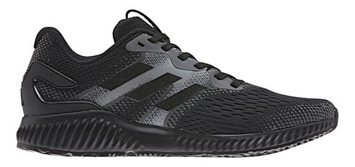Mens adidas AeroBounce Running Shoe - Black/Black 12