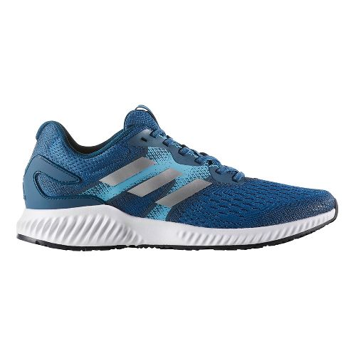 Mens adidas AeroBounce Running Shoe - Royal/Silver 9.5